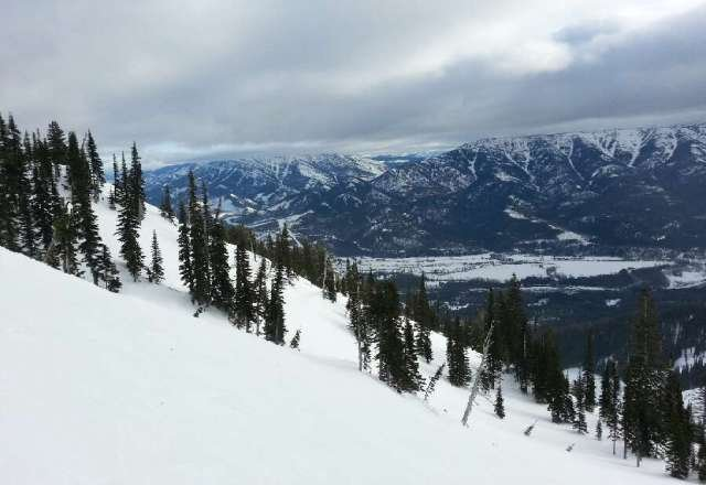 Lots of bumps and hard pack. Still a fun day in Fernie.