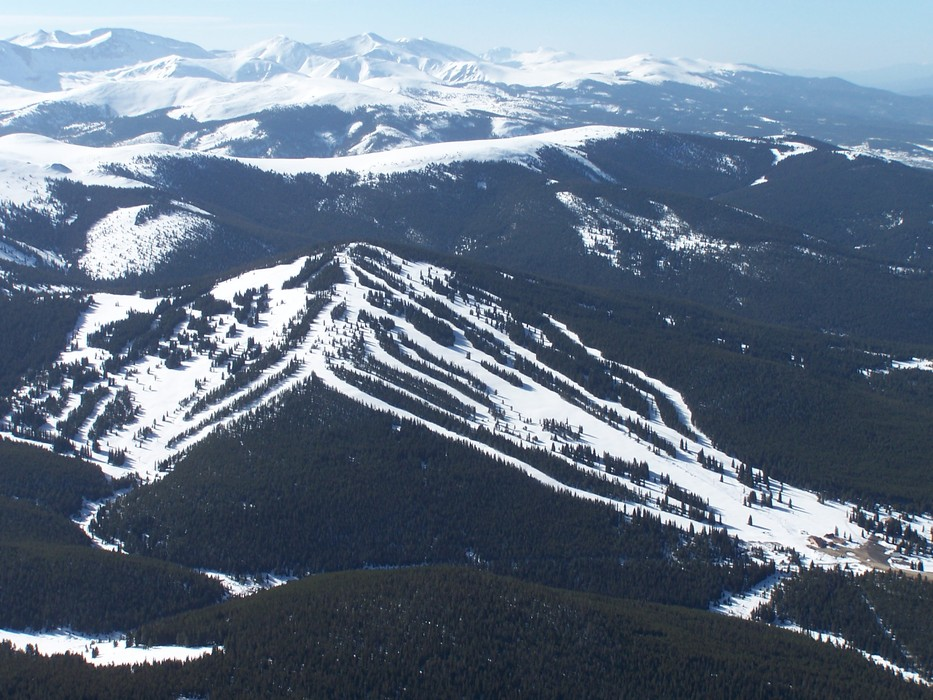 Ski Cooper, Colorado as seen from the air