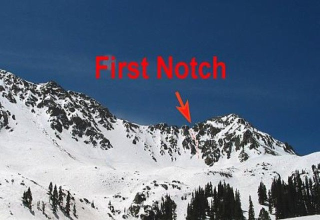 1st Notch at top of North Pole hike seen on trailmap.