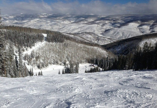 Simply a beautiful day at Beaver Creek. Nice conditions after yesterday's storm and bright sunshine. Lift lines were short.
