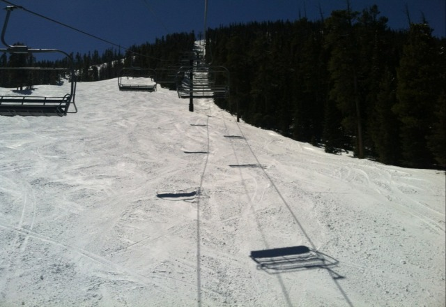 Best spring day ever. Awesome today but at the end of the day it was extremely slushy. Slush powder is wonderful.
