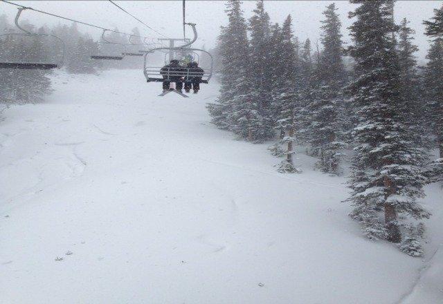 snowing hard!!