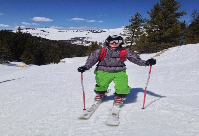 spring skiing at it best only at Vail cloud 9 ton of fun.