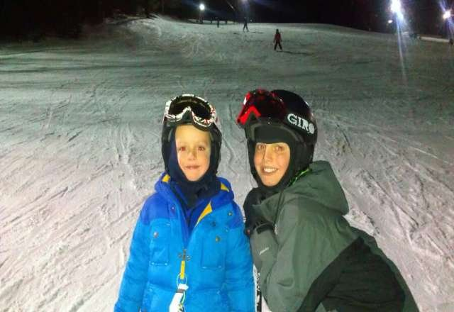 fun night with my two boys. snow is great.