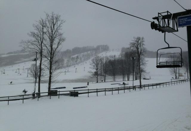 starting to snow!