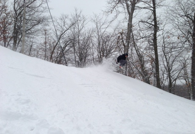 some bad ass snow for MN. a solid 8-10. great day at wild