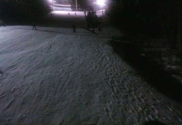 Good snow at night but fell and hurt my wrist :(