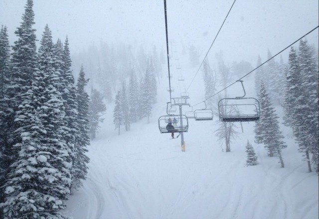 awesome pow today at sugar!!  best day ever!!!