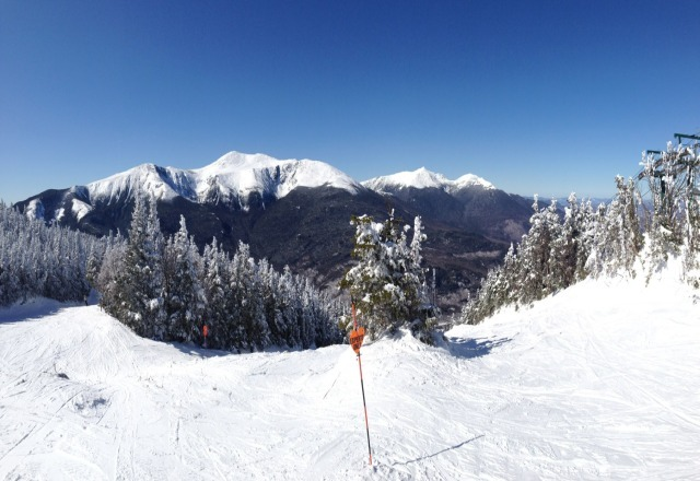 Bluebird skies, Great early spring conditions.Post card view of Tuck. Epic day.