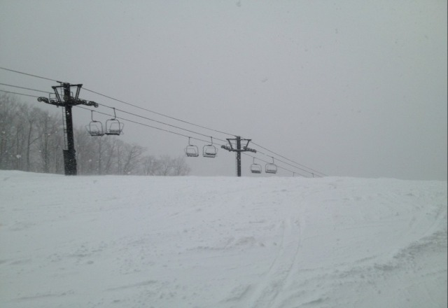 amazing... powder in March?!? good skiing.