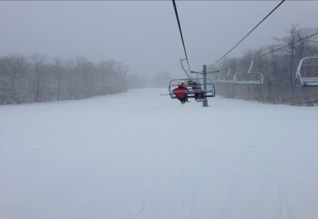 awesome snow but winds have most of the lifts are shut down.