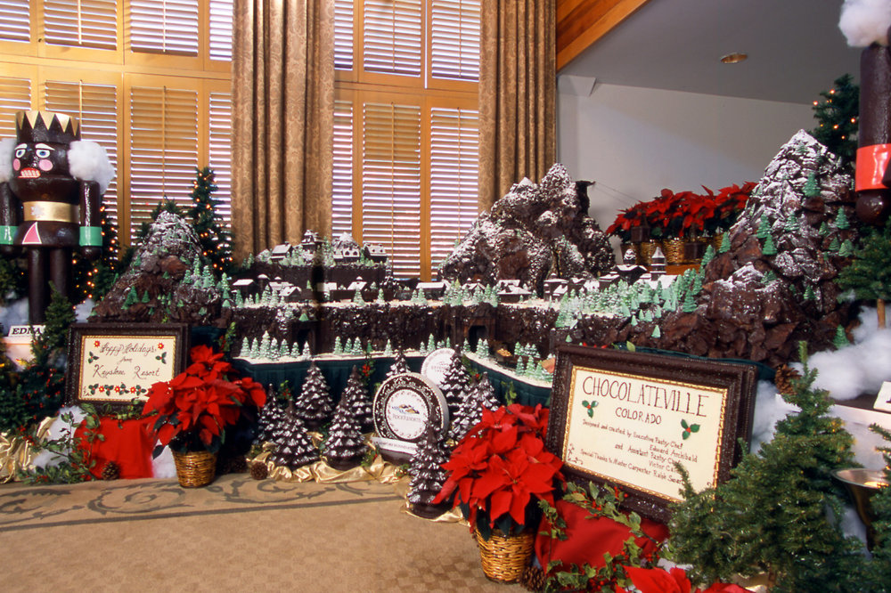 Holiday time at Chocolateville in the Keystone Lodge in Keystone, Colorado.