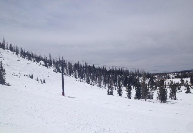 was there today nice day,sunny no lines still a lot of snow
