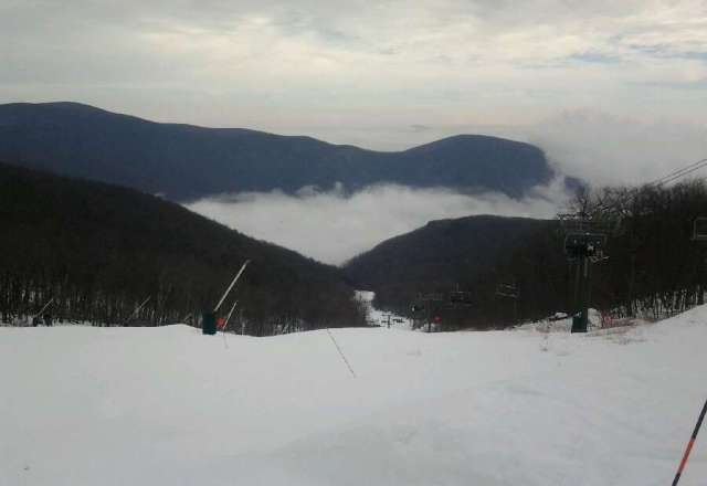 Great conditions today...to bad the warm air comes back tmrw