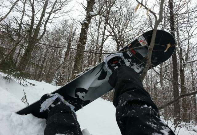 your doing it wrong lol....deep powder in woods off ramshead lift.