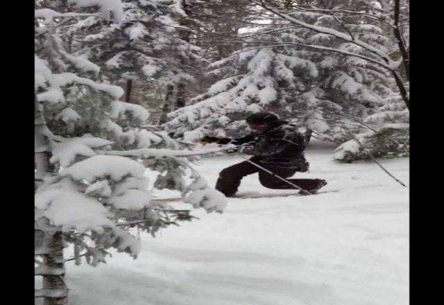 I saw sasquatch at mt snow!!