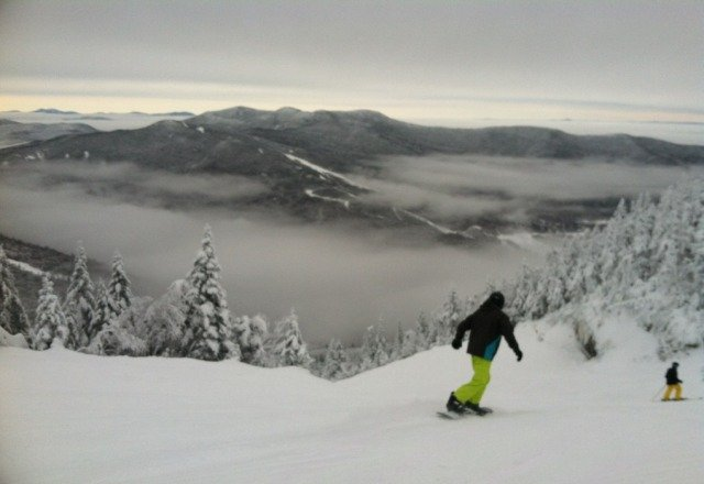 powder runs all day. the mountain is perfect