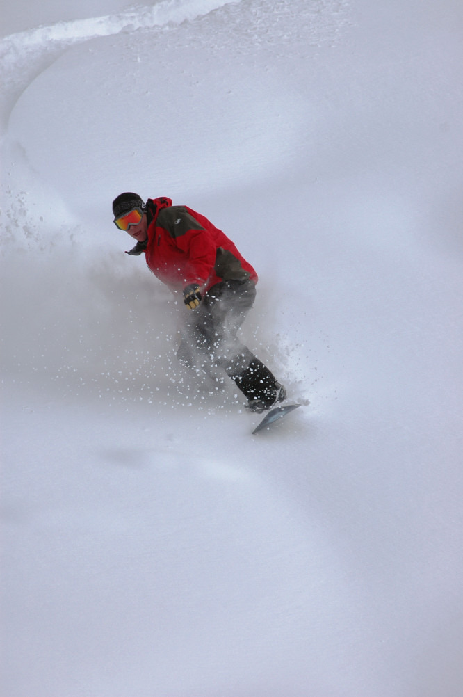 Ethan Mueller carves out new powder in Crested Butte, Colorado