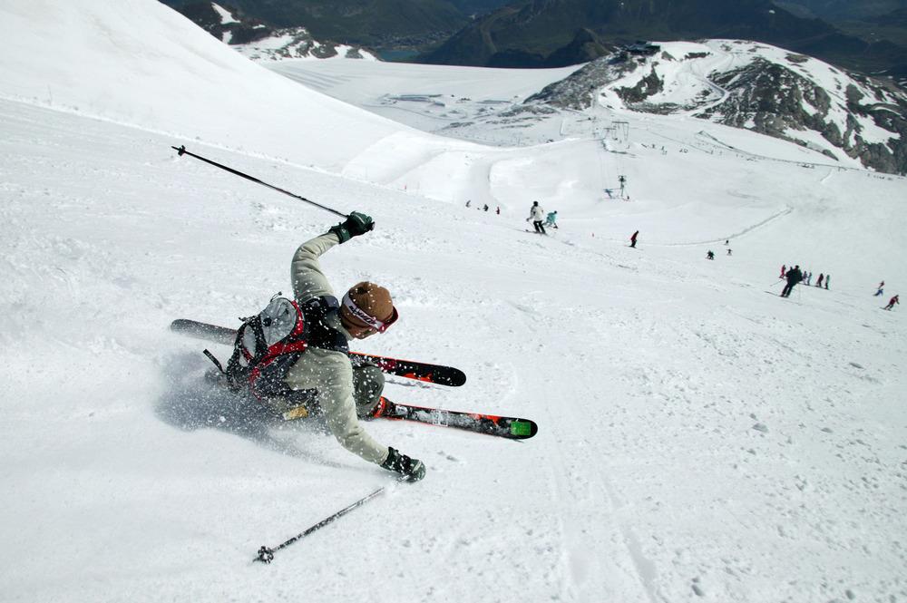 Ski sur le glacier de la Grande Motte à Tignes - © Jean-Marc Favre