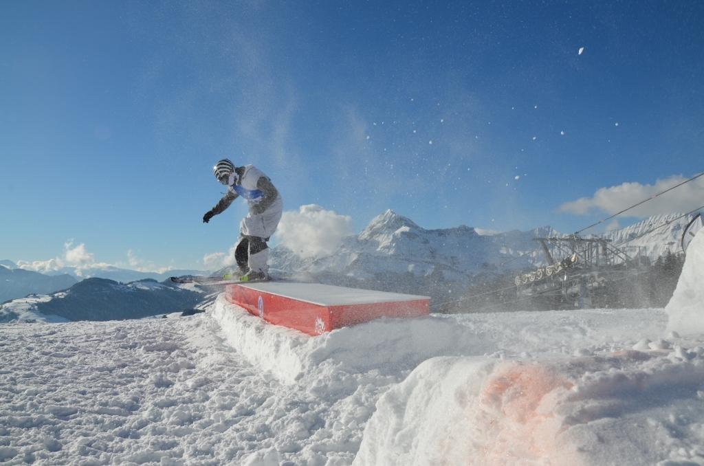 Crest Voland snowpark - © Office de tourisme du Val d'Arly