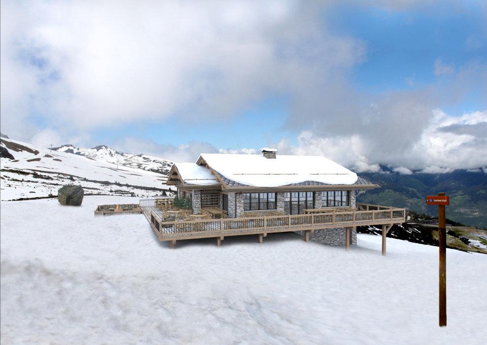 Dining on the mountain at La Cave des Creux (2512 m) - ©Courchevel
