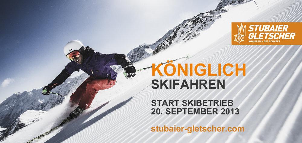 Start Skibetrieb Stubaier Gletscher - © Stubaier Gletscher