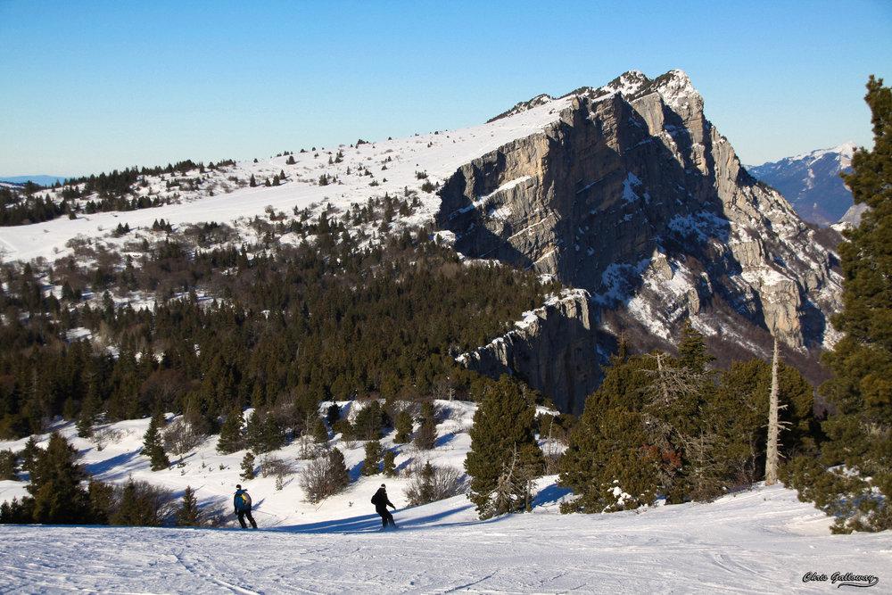 Ski à Lans en Vercors - © Montagne de Lans