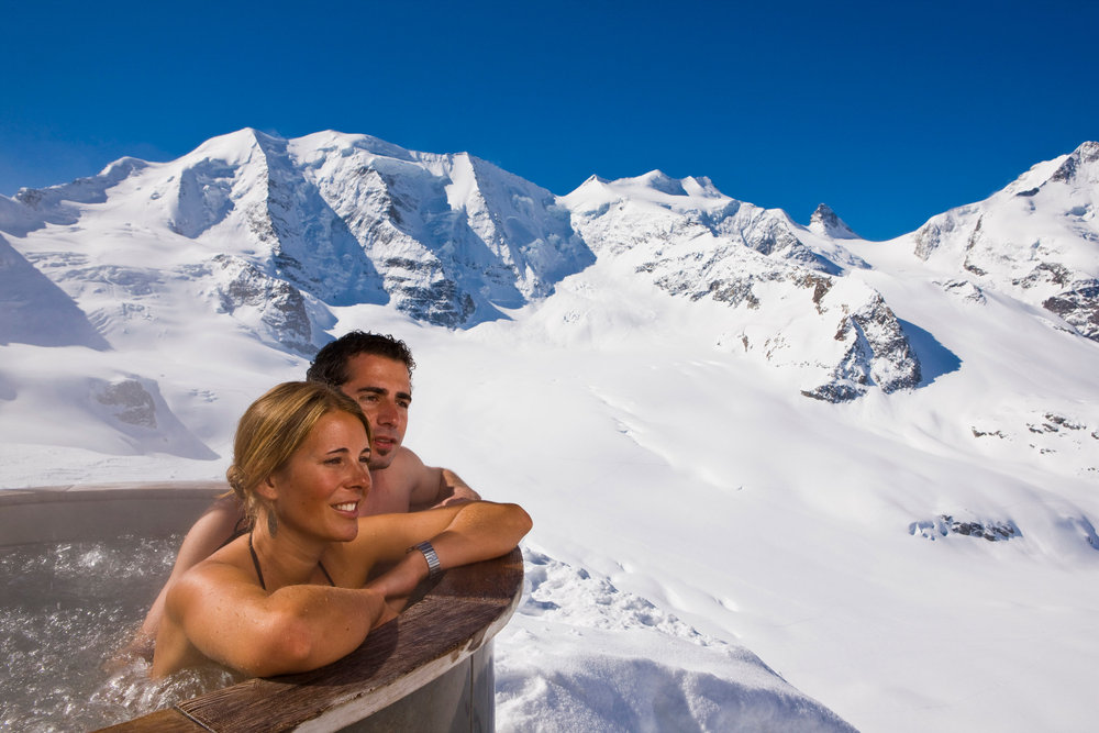Sprudelbad Diavolezza auf 3.000 M.ü.M. - © ENGADIN St. Moritz