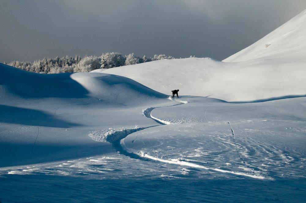 Laissez sa trace dans la poudreuse de l'Alpe du Grand Serre... - © Christophe STAGNETTO