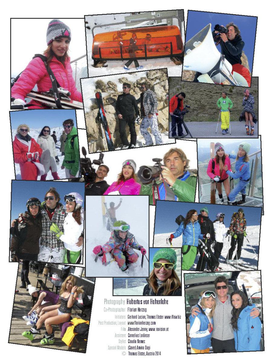 Femaile Ski Teacher Calendar 2014 - © Hubertus Hohenlohe/www.skiinstructors.at