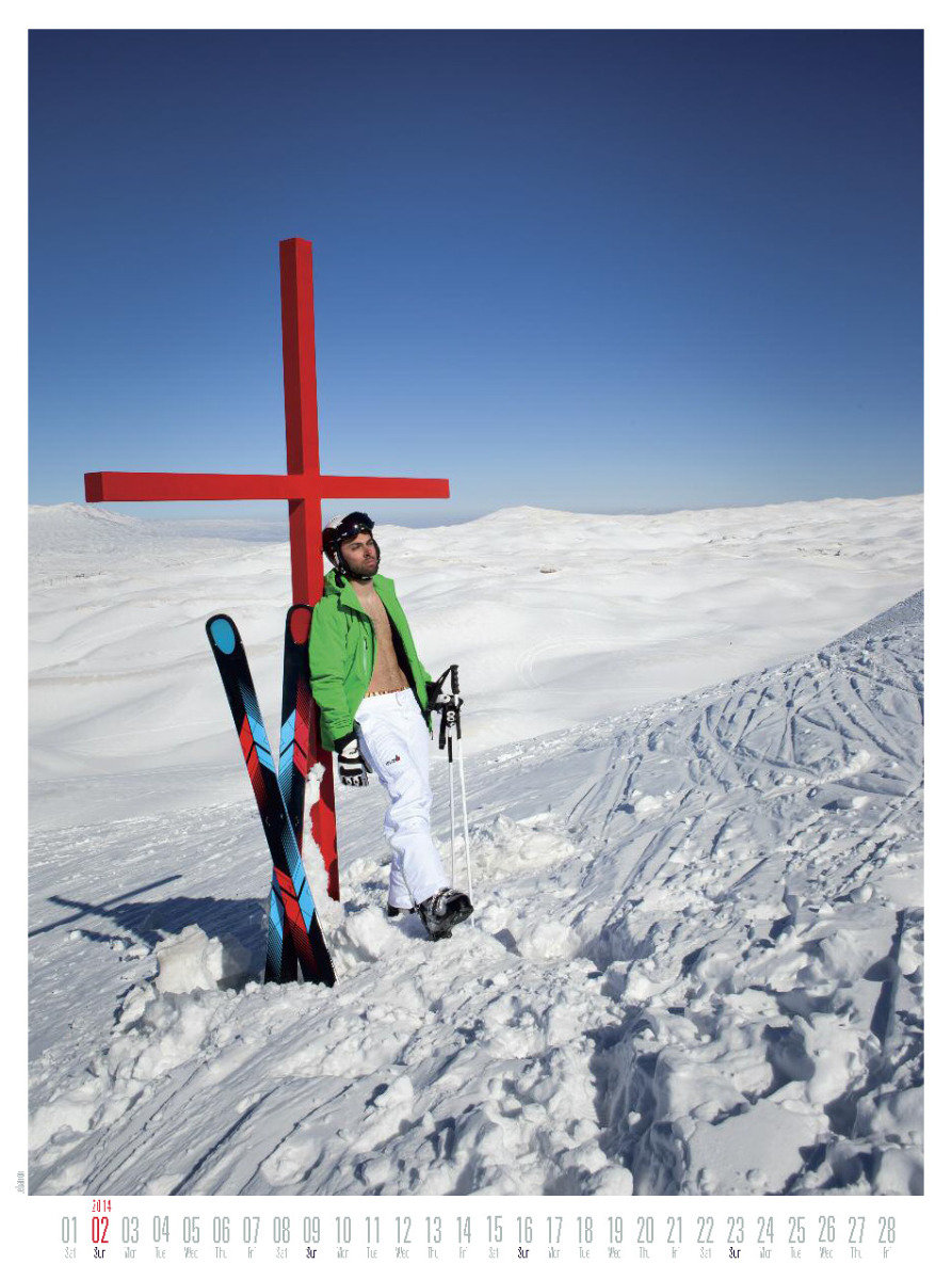 Mr February 2014 - Ski instructor calendar - © Hubertus Hohenlohe/www.skiinstructors.at