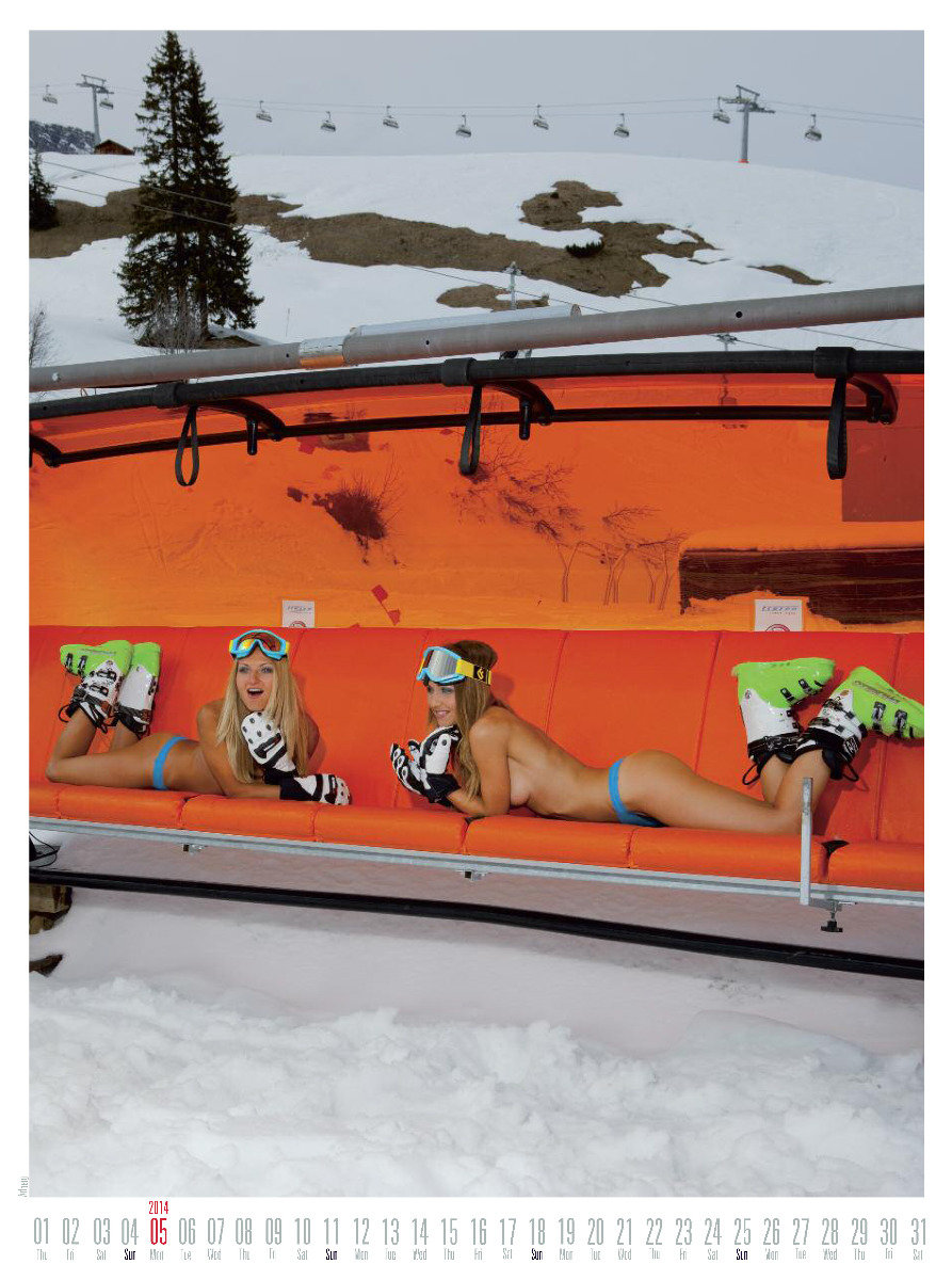 Ms May 2014 - Female Ski Instructor Calendar - © Hubertus Hohenlohe/www.skiinstructors.at
