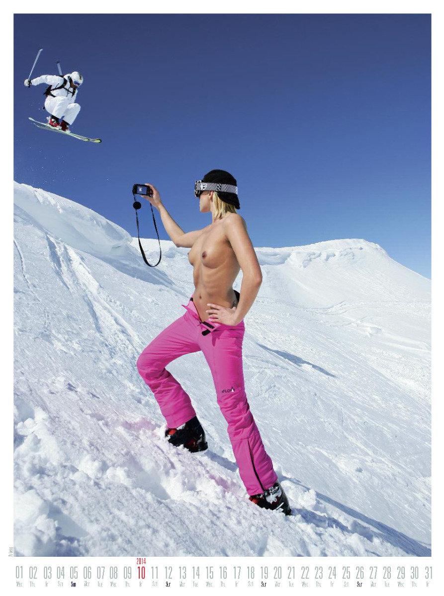 Ms October 2014 - Female Ski Instructor Calendar - © Hubertus Hohenlohe/www.skiinstructors.at