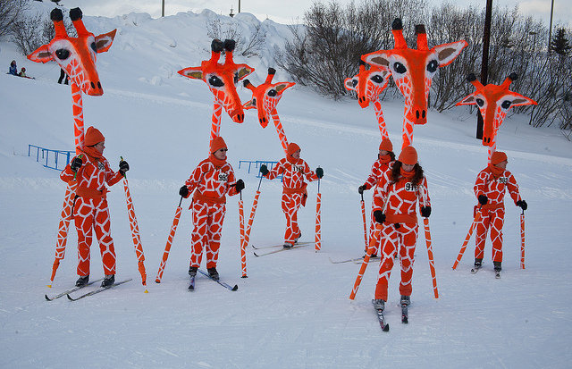Image result for skiing fancy dress ideas