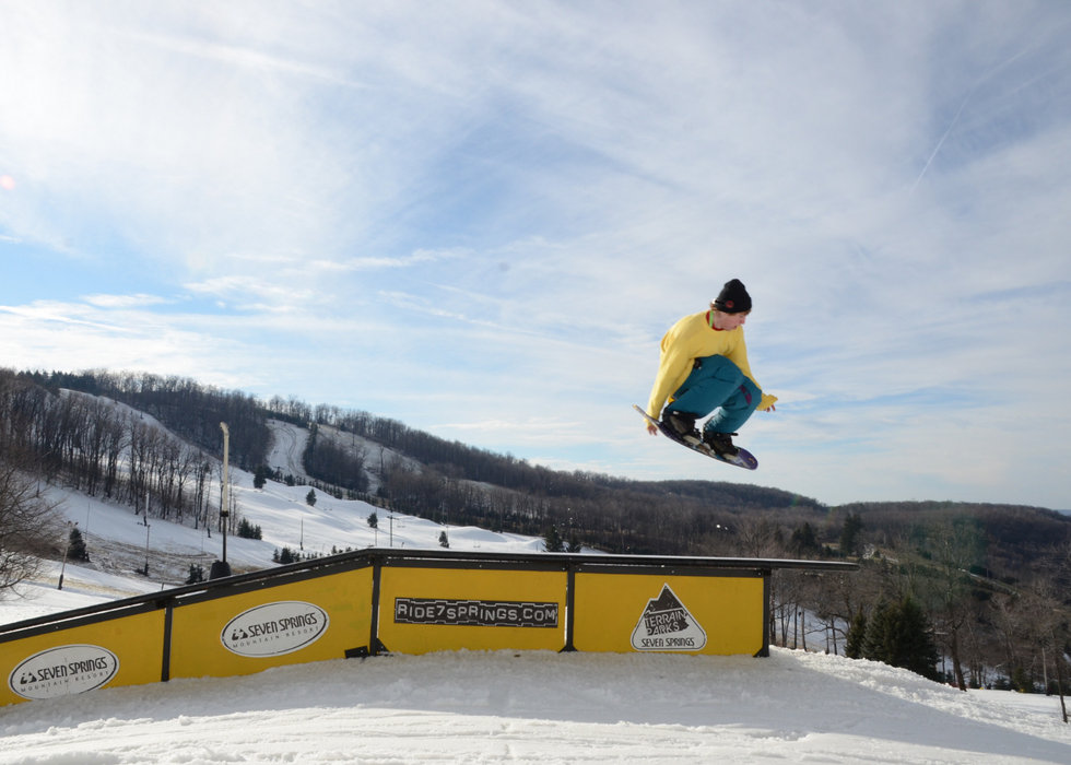 Home of the East Coast's top terrain parks and pipes - ©Seven Springs