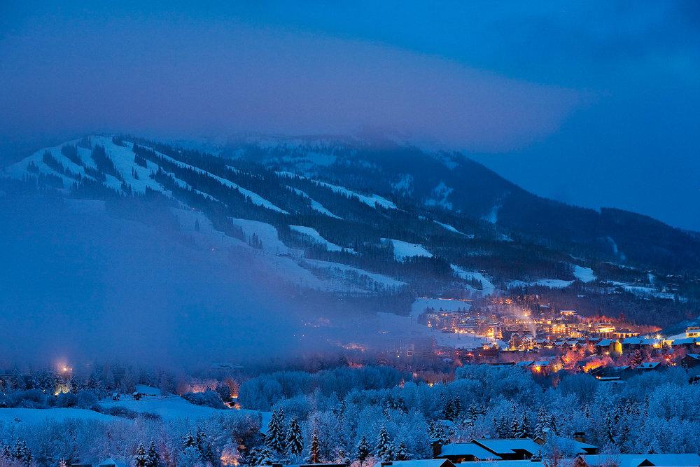 Ambiance nocturne à Aspen - © ® Aspen Snowmass