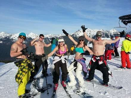 Beautiful day on the mountain. 1st time for this Boise crew up at Mt. Baker.