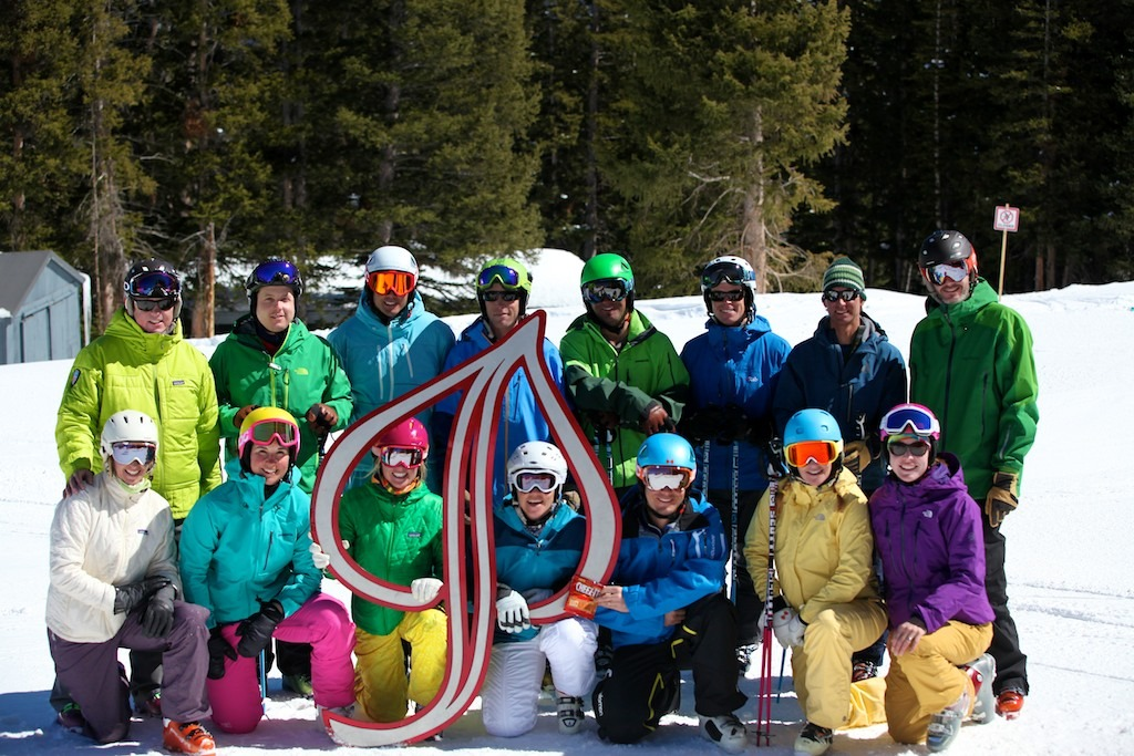 The OTS ski testers had a great week in the sun making hot laps on Ajax Mountain in Aspen. Photo by Tim Shisler.