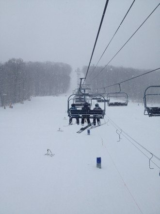 Great day!! No ice, no lines, and great powder!