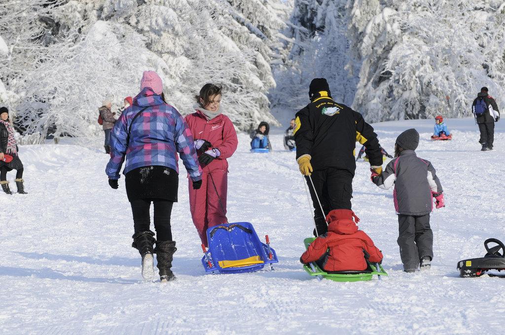 Luge en famille au Lac Blanc - © OT Vallée de Kaysersberg