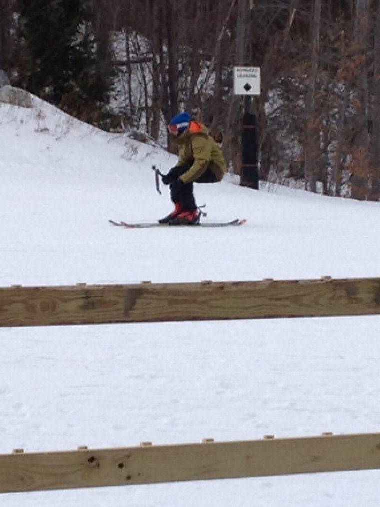Inbounds at sugarbush nothing like it  , tore that place up today