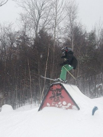 Great day at bnut!  Ryan age 11 ripping up Terrain park