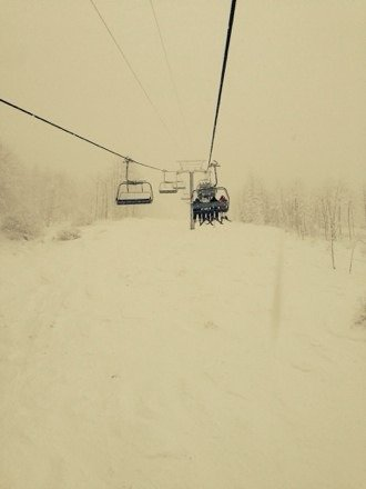 Great powder day at the boat!!!! Over 15 inches of Freshies!!!!