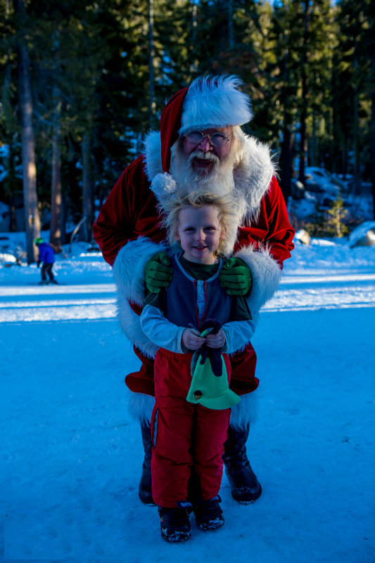 Santa visited Sierra-at-Tahoe Resort this past weekend and the kids were all smiles!  - © Brian Walker Photography