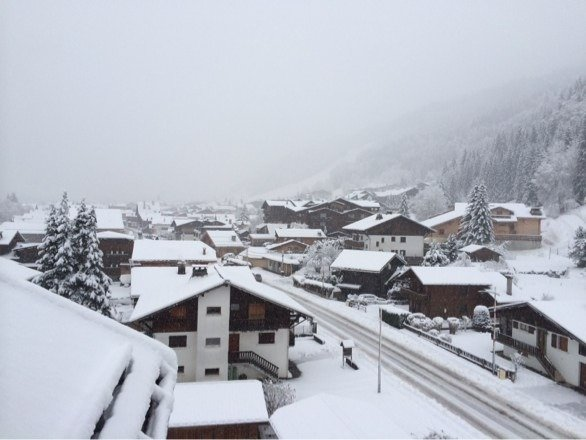 Massive dump of show in Morzine. Has snowed for 24 hours and freshened up the pistes in the surrounding area.