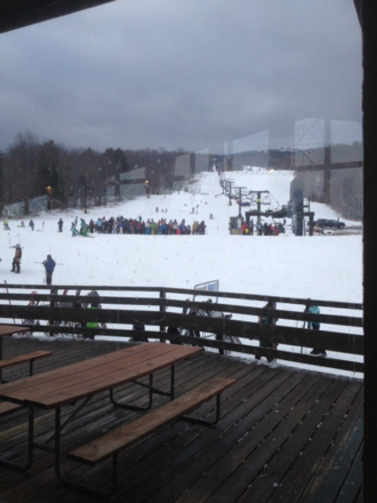 Not bad in morning but not enough trails open for the number of people here. Need more snowmaking. Trails crowded and icy in afternoon.