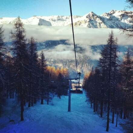 chair lift down from sportinia! such an amazing holiday!