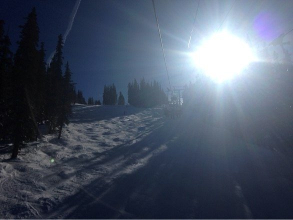 Fresh powder and sun is out, great day