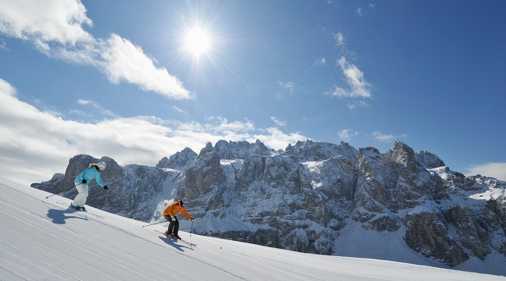 Some of the longest and most remarkable ski safaris can be found within the Dolomiti Superski region - © Val Gardena
