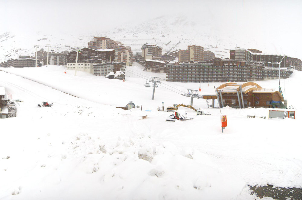 Snow in Val Thorens Nov. 15, 2013